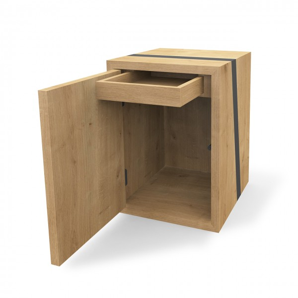 Modul mit Türen & Schubkasten, Holz & Holz