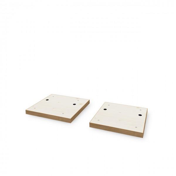 Bodenplatte für Doppelmodul mit Schräge